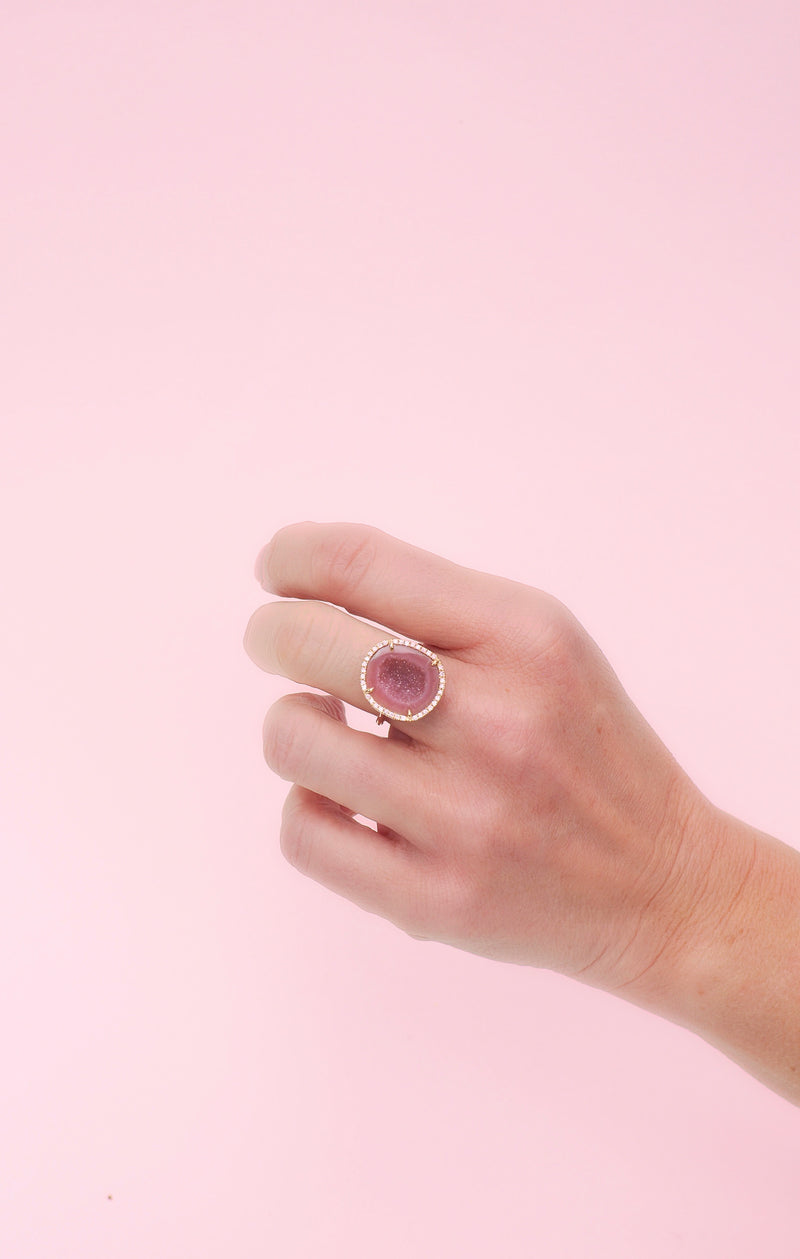 ROCKY ring, dark blush