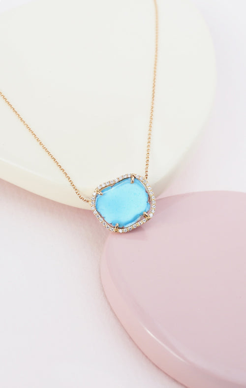 CHARLIZE necklace, turquoise