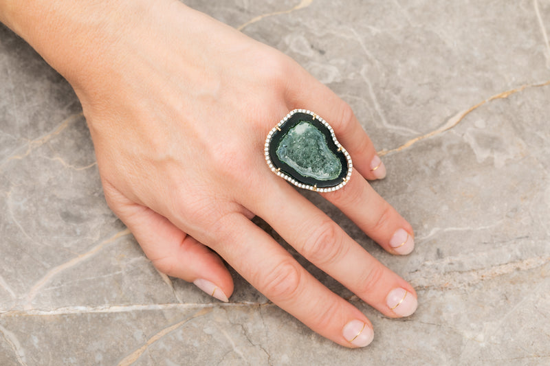 ROCKY ring, black/green