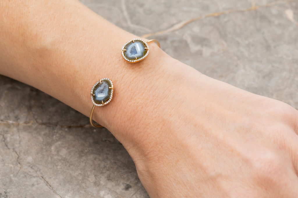 ANABEL bracelet, blue/gold