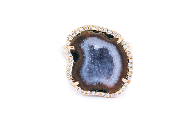 ROCKY ring, blue/brown
