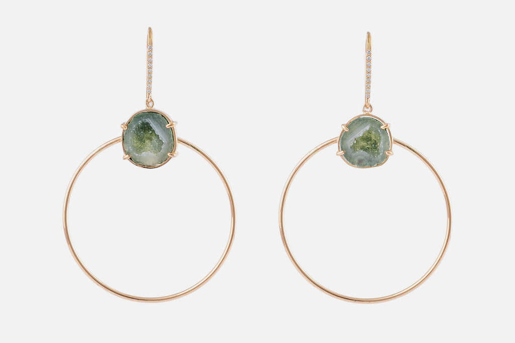 JADE earrings, green