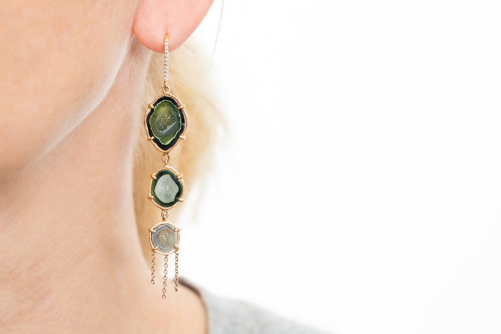 AUDREY earrings, green