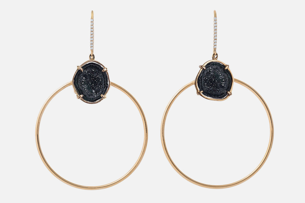 JADE earrings, black