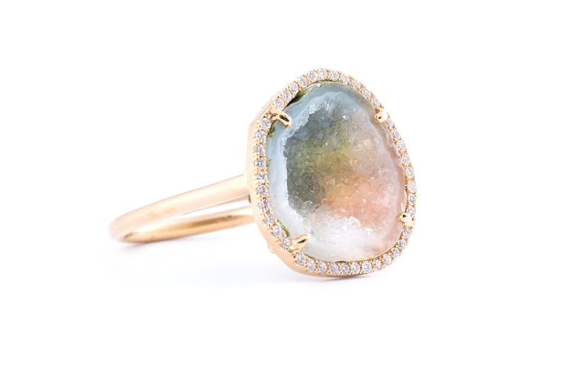 ROCKY ring, white/blush/grey