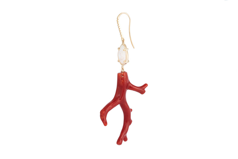 SIENNA earring, red