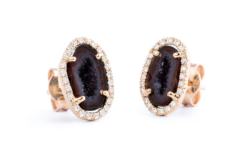 APRIL studs, brown