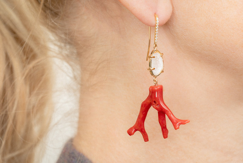 SIENNA earrings S, red