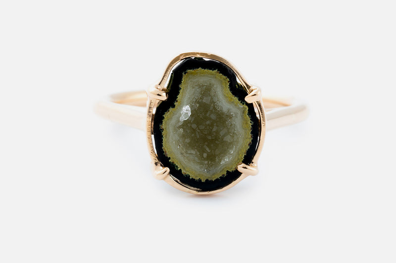 LEMONY ring, green