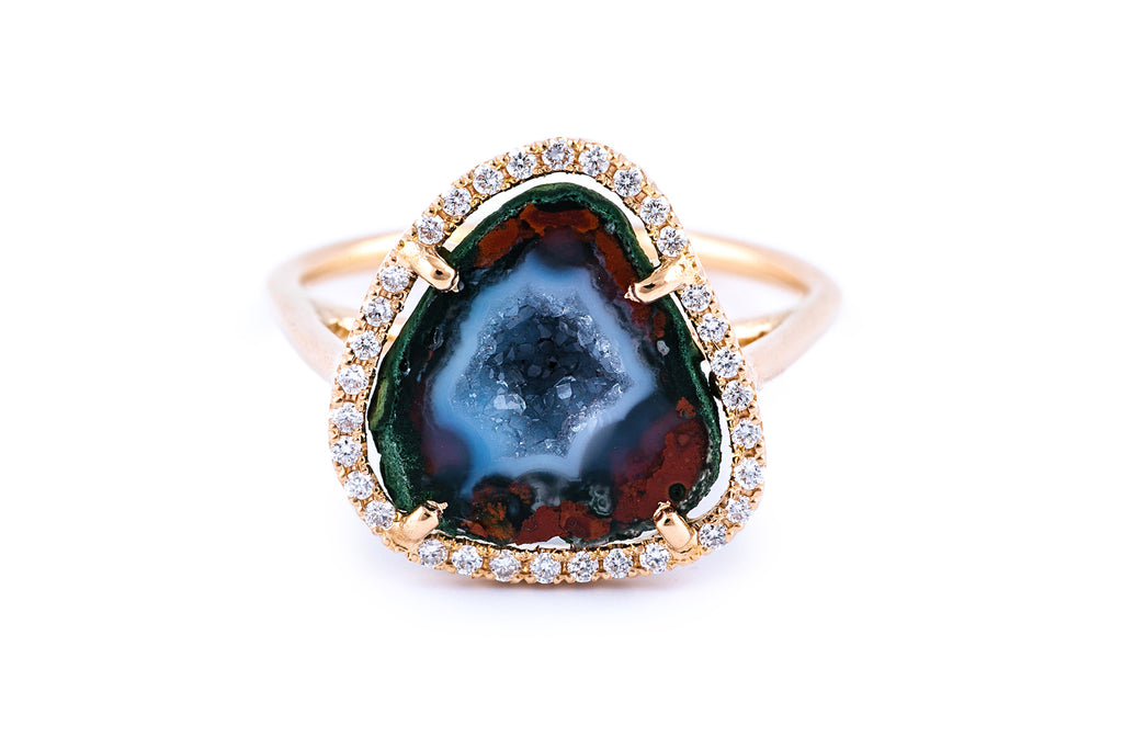 ROCKY ring, blue/red