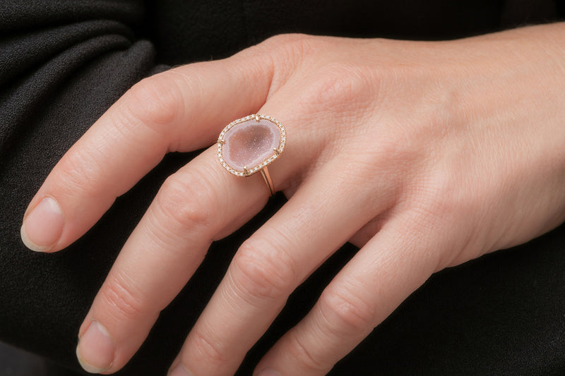 Rocky ring, pink