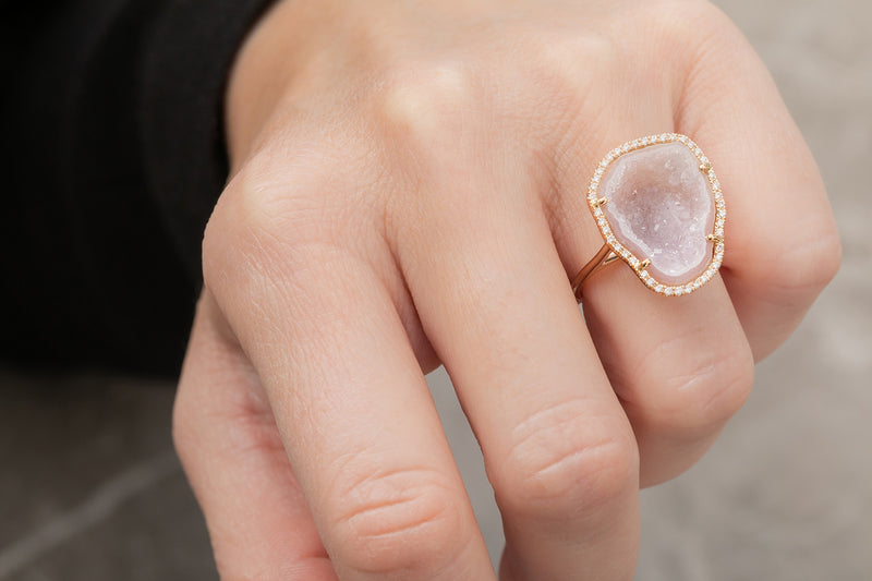 ROCKY ring, white/pink