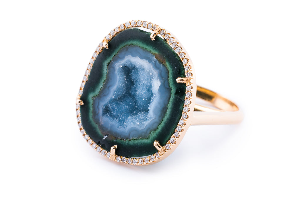 ROCKY ring, blue/green