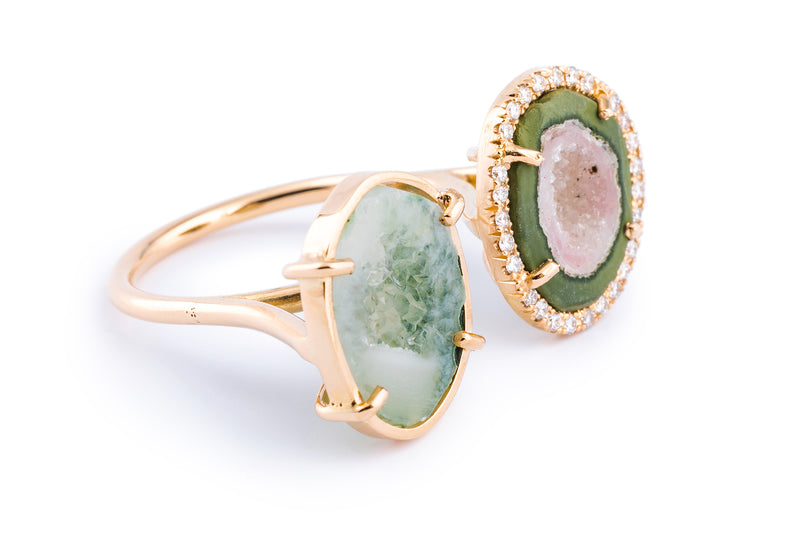 ALIX ring, Green/pink