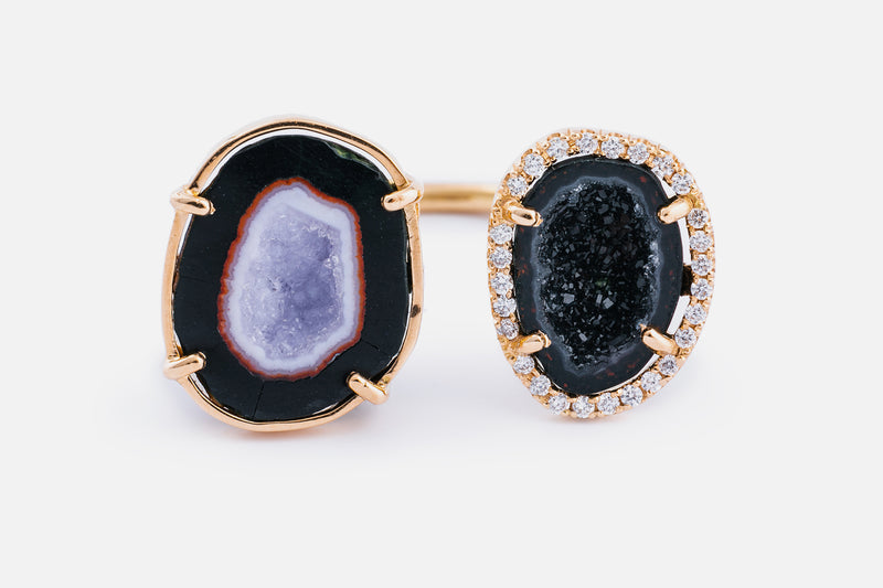 ALIX ring, Black/lila