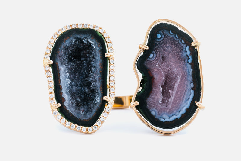 NOA Ring, Black/Pink