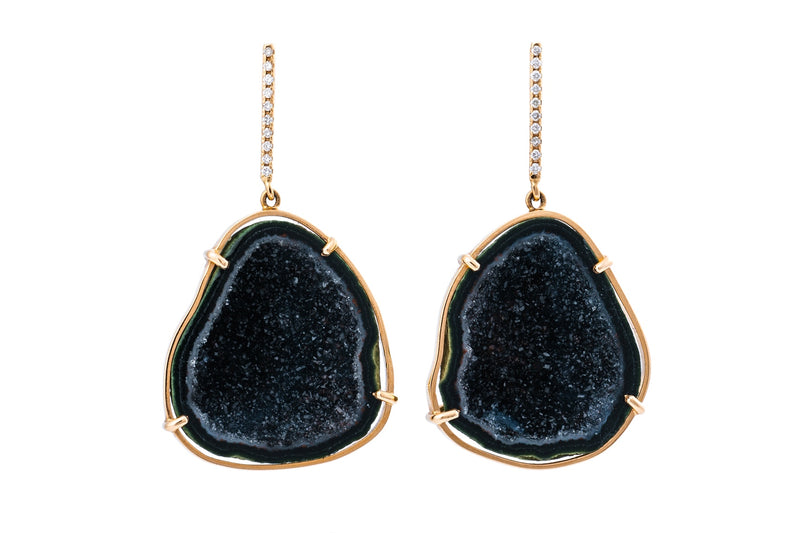 JANELLE earrings, black