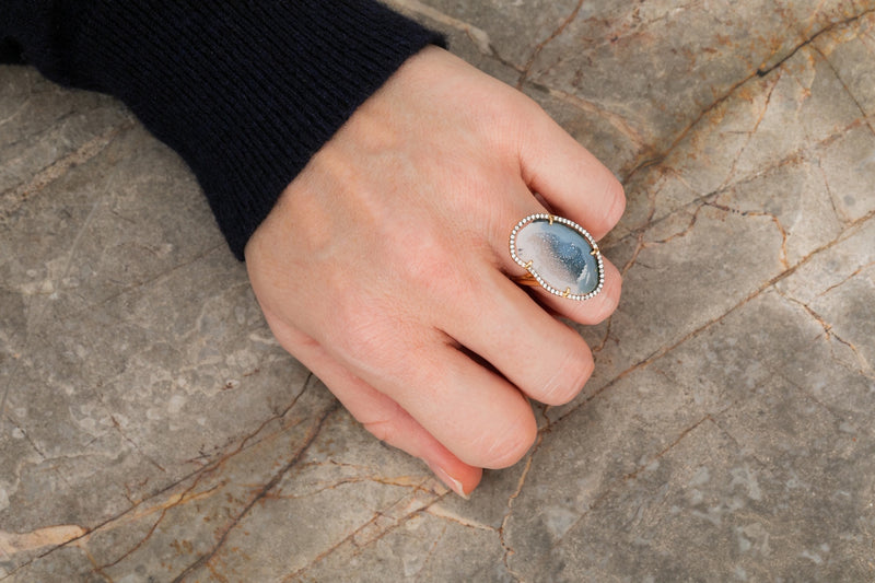 ROCKY ring, blue/white