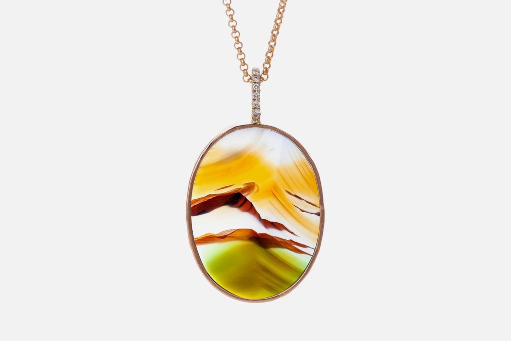 GIGI pendant, yellow/green