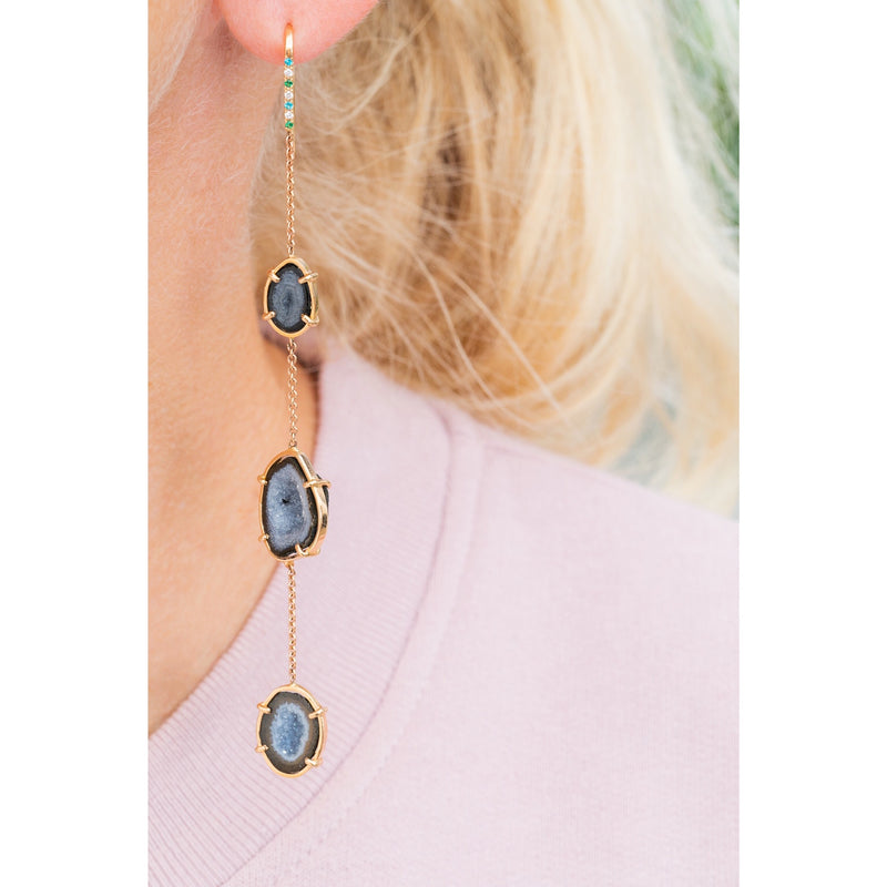 MAE earrings, blue