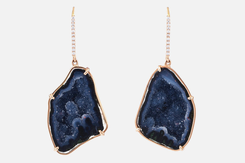 JANELLE earrings, dark blue