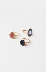 LEMONY ring, black