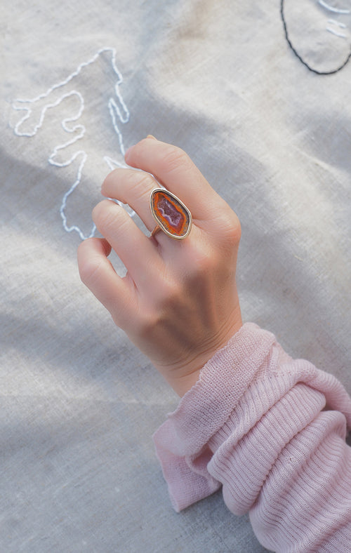 NICOLA ring, orange