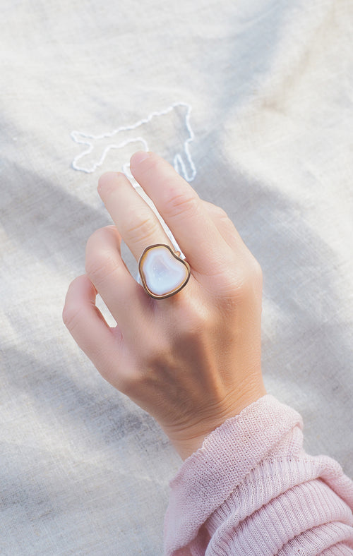 NICOLA ring, white