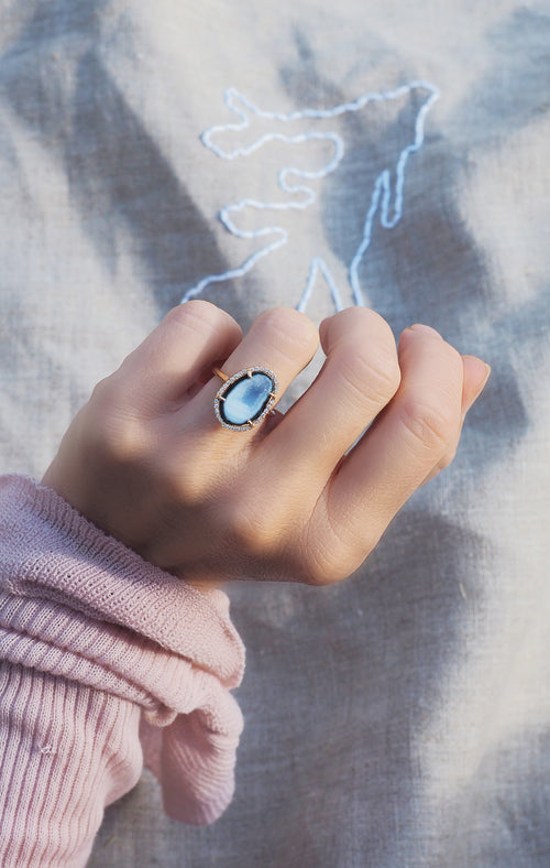 ROCKY ring, light blue