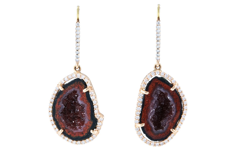 ALISON earrings, bordeaux