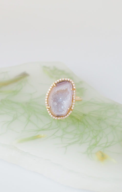 ROCKY ring, pearl color