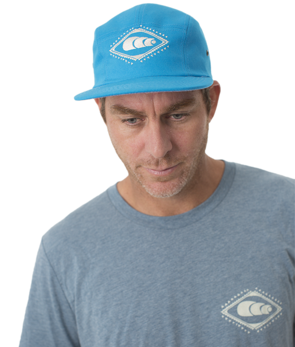5 Panel Turquoise Runner Hat