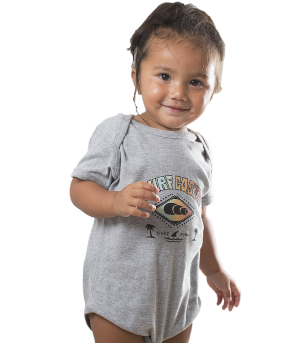 Grey Toddler Onesie with Full Color Logo