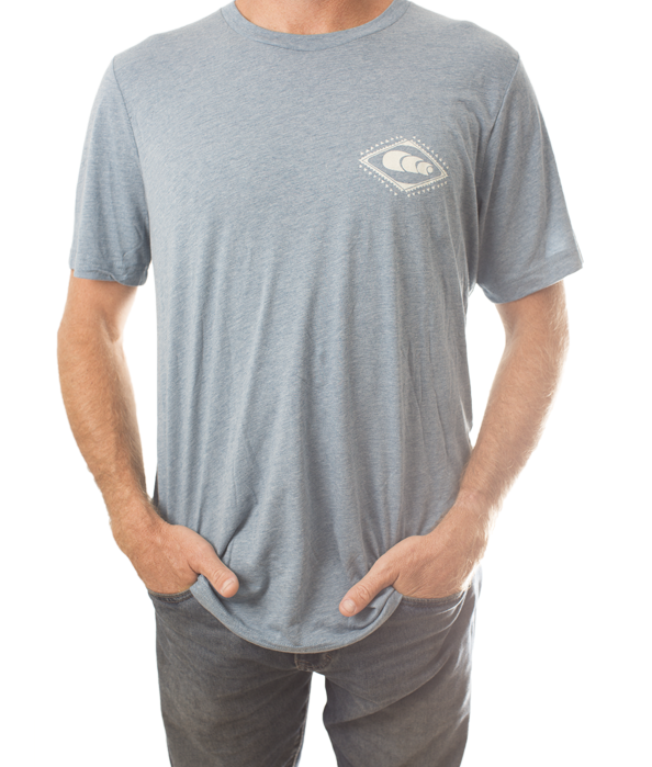 Men's Blue Tee / Natural Logo