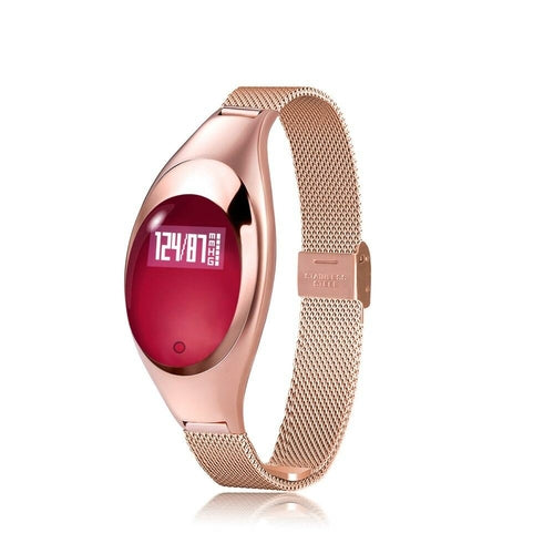 Z18 Smart watch Women Fashion Band bracelet Heart Rate Monitor - www.PlusMySize.com
