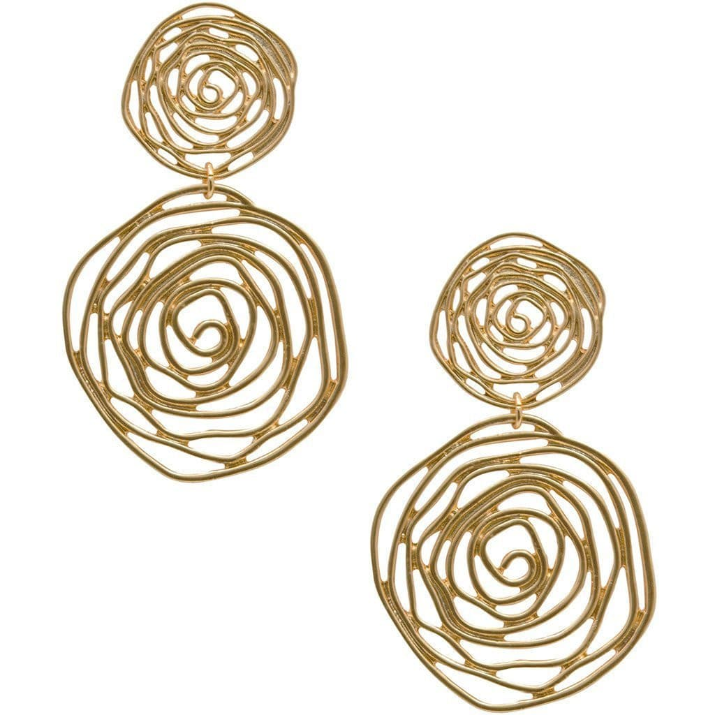 Earrings , Gold , Silver, Dressy Statement - www.PlusMySize.com