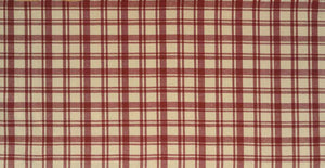 Twill check red