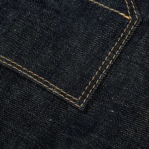JCA-001- JAPANESE RAW SELVEDGE & LEATHER APRON