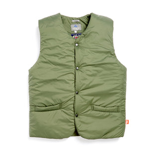 JCO-002-TURNER MILITARY GREEN NYLON WADDED GILET