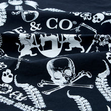 Load image into Gallery viewer, Skull & Bones black bandana