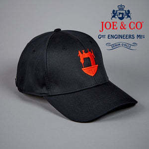 JCA-TRADITIONAL 6 PANEL BLACK BASEBALL CAP