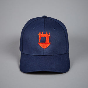 JCA-TRADITIONAL 6 PANEL NAVY BASEBALL CAP