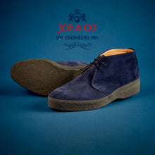 JCF-001-JOE & CO X SANDERS NAVY SUEDE CHUKKA BOOT