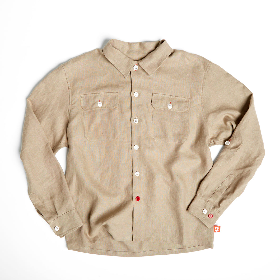 JCS - PAXTON 40 JOE & CO X IRISH LINEN OVER SHIRT