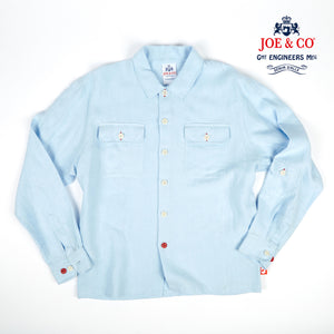 JCS-PAXTON 21 JOE & CO X PURE 100% LINEN OVER SHIRT