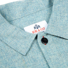 Load image into Gallery viewer, Paxton 3 Aqua blue British wool over shirt