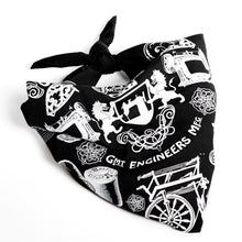 Load image into Gallery viewer, British Made black silk screen printed bandana