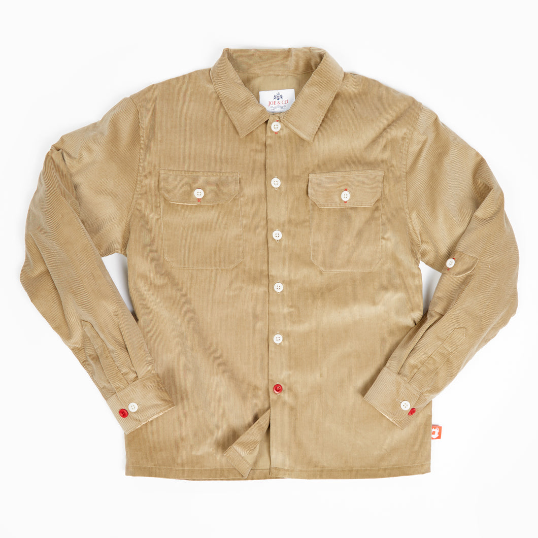 Paxton 20 Camel cordury over shirt