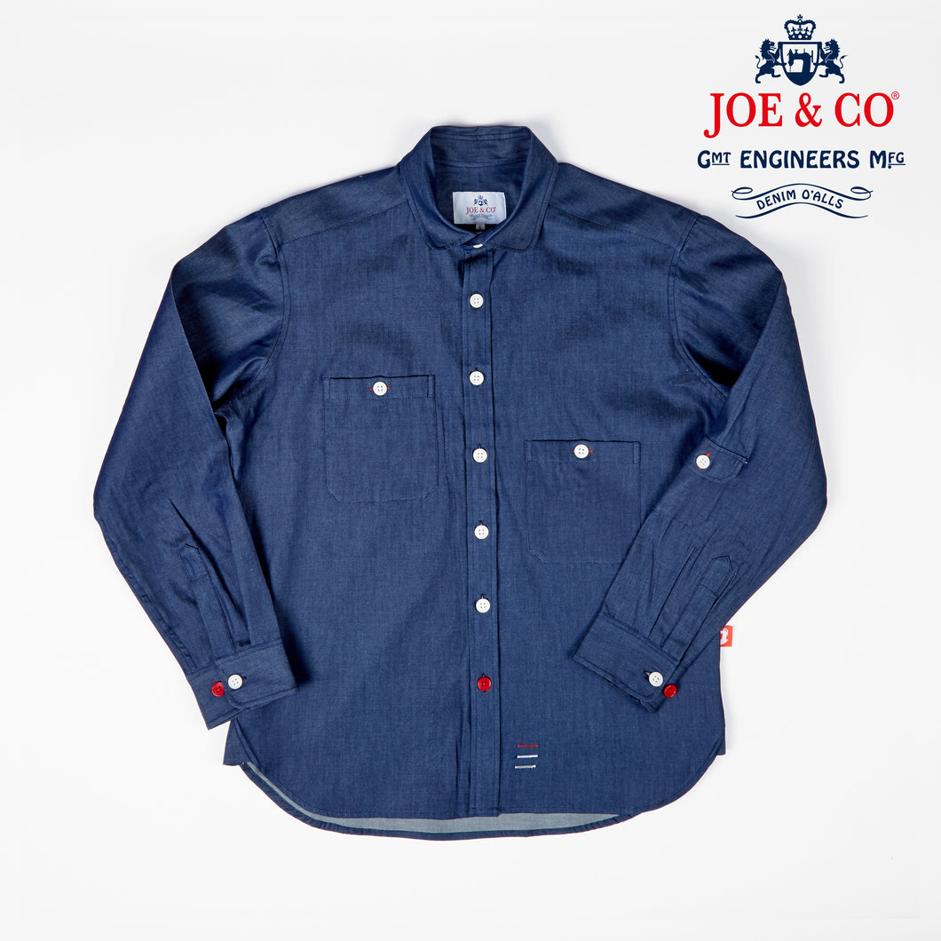 JCS-TALBOT-021 6oz CHAMBRAY PENNY COLLAR WORK SHIRT
