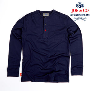 JCJ-003 THAMES - SUPIMA FINE COTTON 3 BUTTON LONG SLEEVE HENLEY